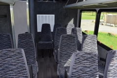 Rear seating and lavatory